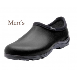 Men's Rain & Garden Shoe / Leather Black Print