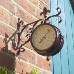 York Station Wall Clock & Thermometer 5.5in