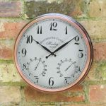 Henley Wall Clock & Thermometer 12in