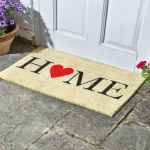 Home Is Where The Heart Is Decoir Mat