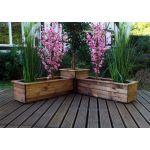 Three Piece Corner Planter Set