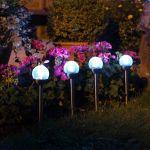 Glow Orb Glass Stake