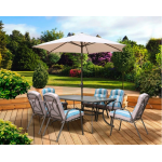 Pagoda Roma 6 Seat Set With Parasol