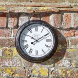 Biarritz Black Silver 12'' Wall Clock