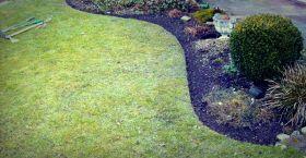 "2mm Thick Heavy Duty Lawn Edging Black - 6"" Deep"