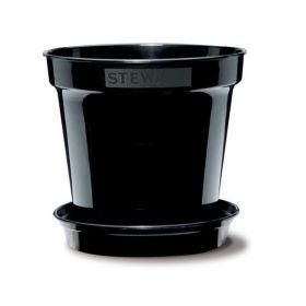 Black Flower Pots