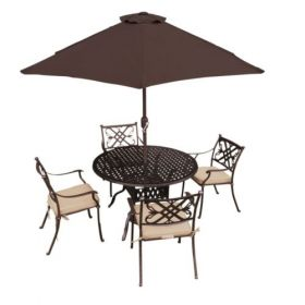 Pagoda Sarasota 4 Seat, Round Table, Dining Set
