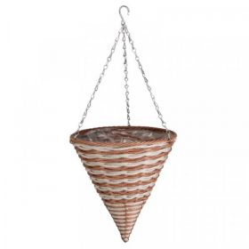 14in Duet Faux Rattan Hanging Cone