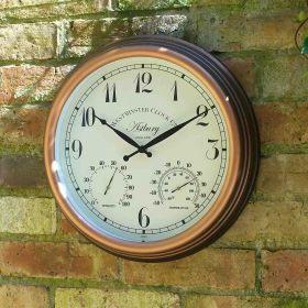 Astbury Wall Clock & Thermometer