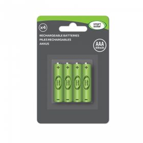 AAA in 600mAh 4 pcs in a Blister Pack