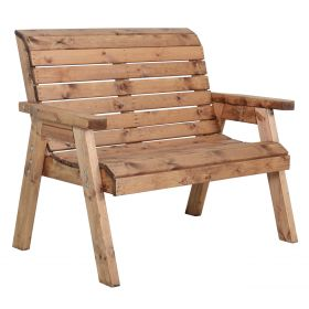Two Seat Garners Rustic Bench