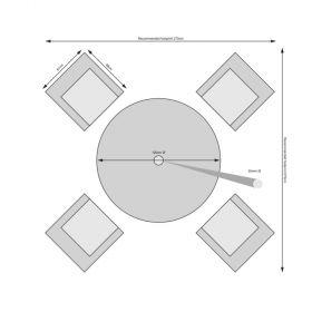 Rathwood - Chester 4 Seater Set
