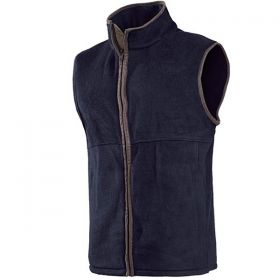 Mens Brown Leather Trimmed Body Warmer