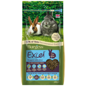 Burgess Excel Tasty Nuggets For Junior and Dwarf Rabbits With Mint