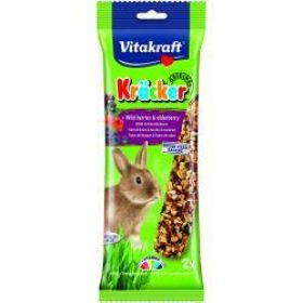 Vitakraft Wildberry Rabbit Sticks 2 Pieces
