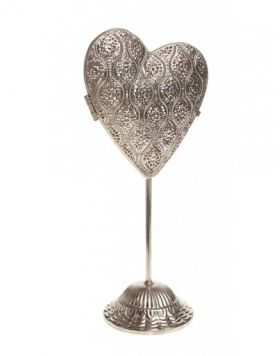 Pre-Lit Standing Heart - Small