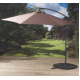 Pagoda 3m Over Hang Parasol Taupe